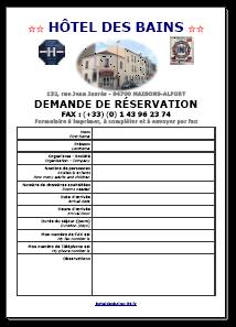Fax Hotel des Bains
